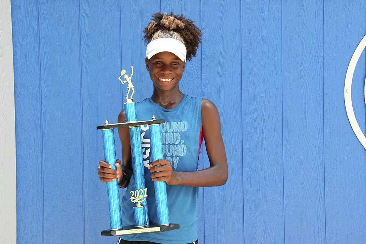 Humble resident Chukwumelije Clarke won the 12-and-under girls singles bracket at the 2021 USTA Texas Slam in Georgetown.