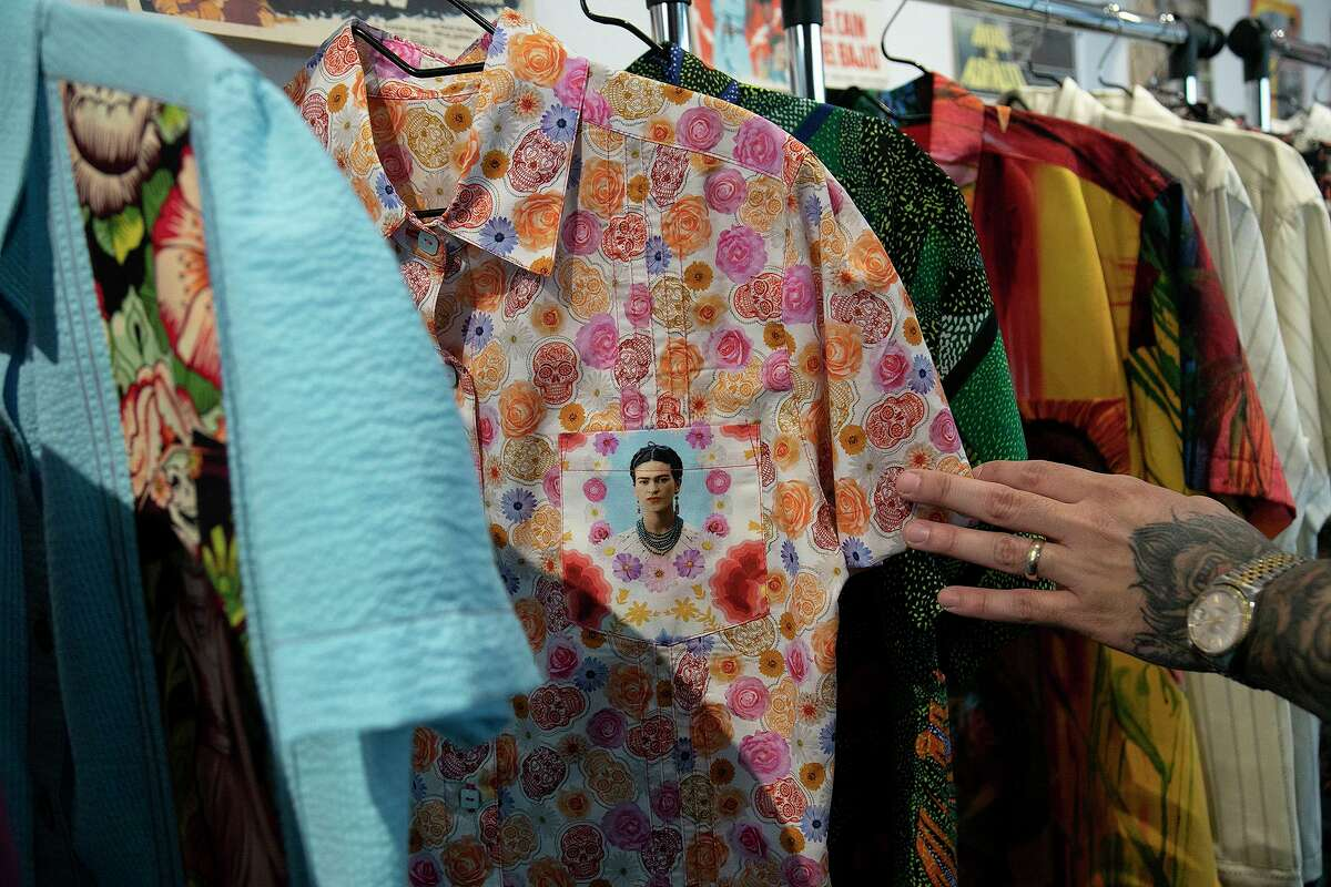 """Trevino says his custom, """"made-from-scratch' guayaberas are meant to inspire confidence in the men who wear them."""