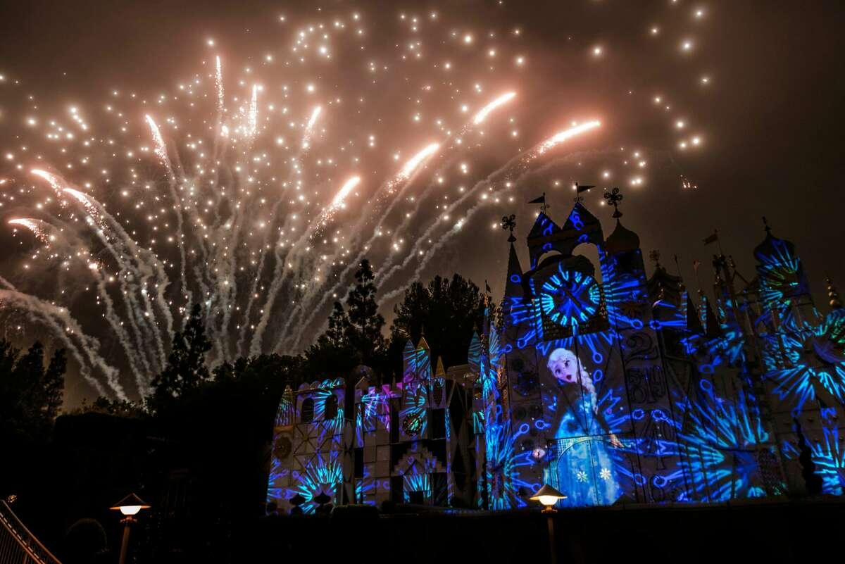 Mickey's Mix Magic fireworks show has resumed at Disneyland.
