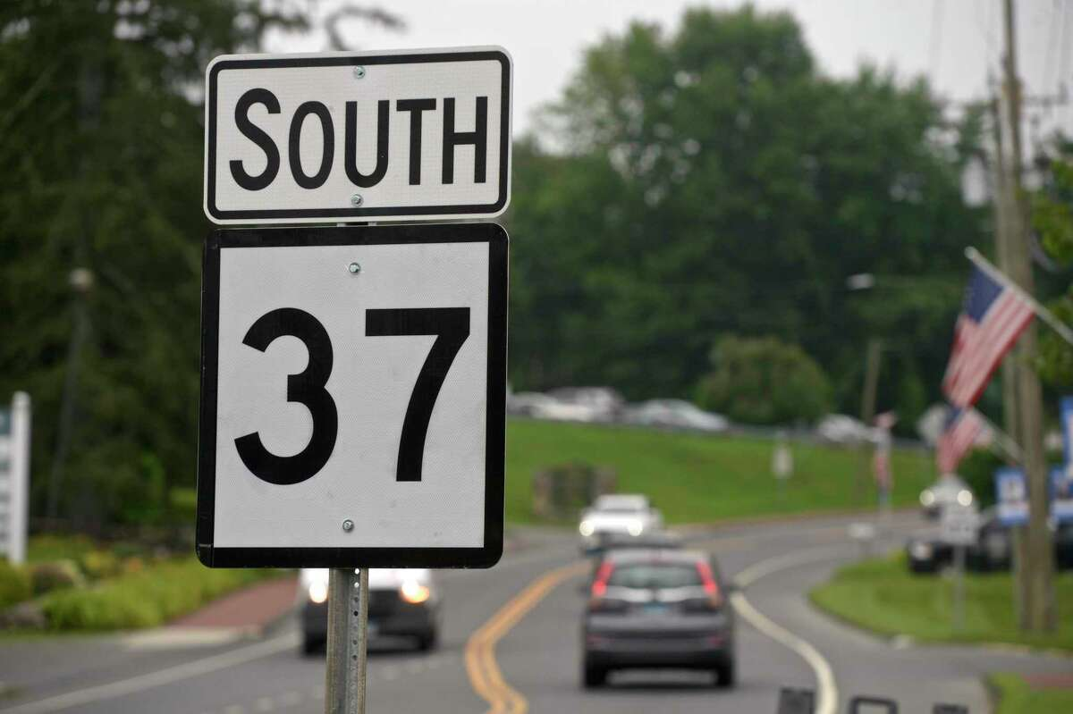 Route 37 South in New Fairfield, Conn., the morning of July 13, 2021.