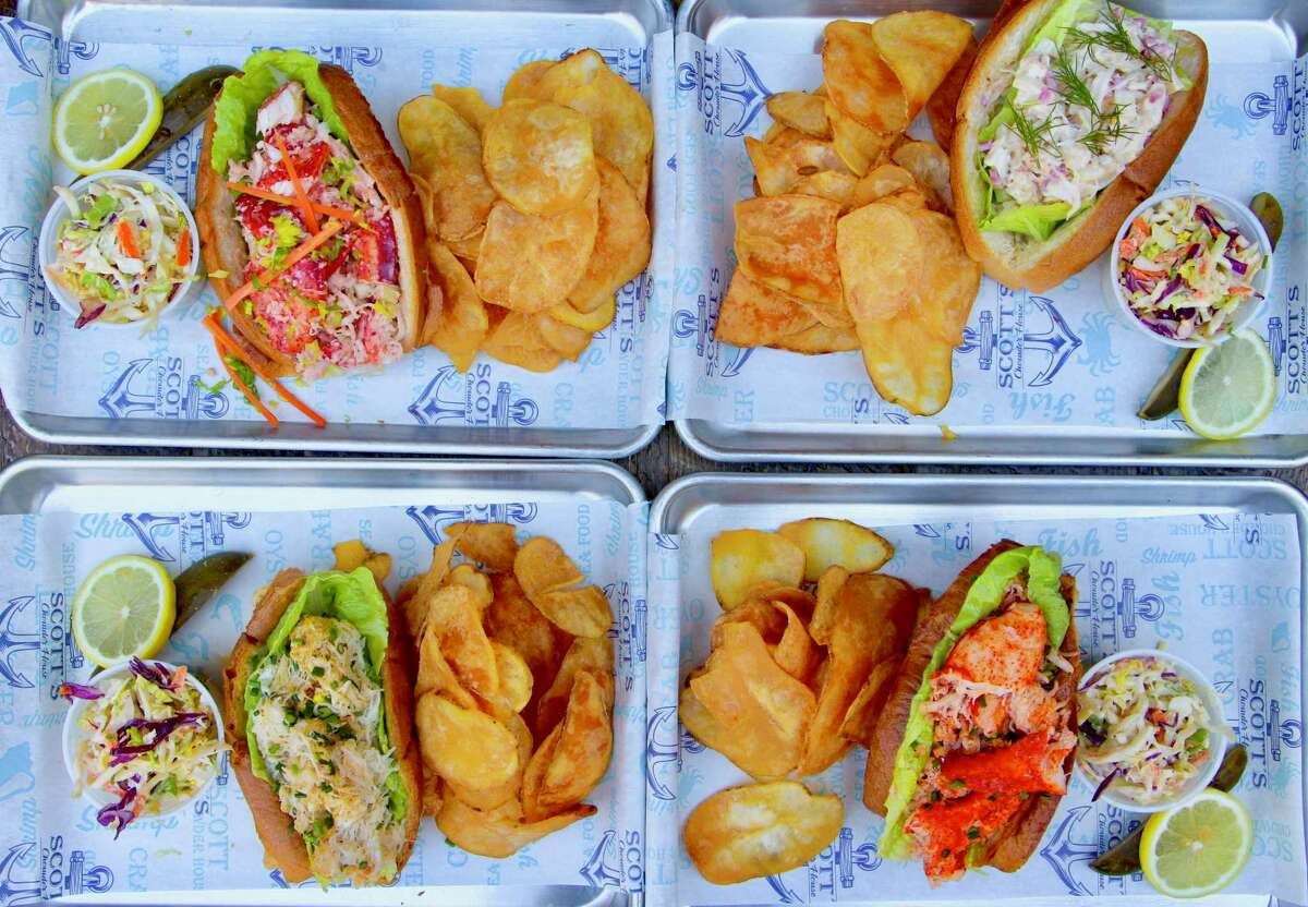 Scott's Chowder House serves several kinds of lobster and crab rolls.