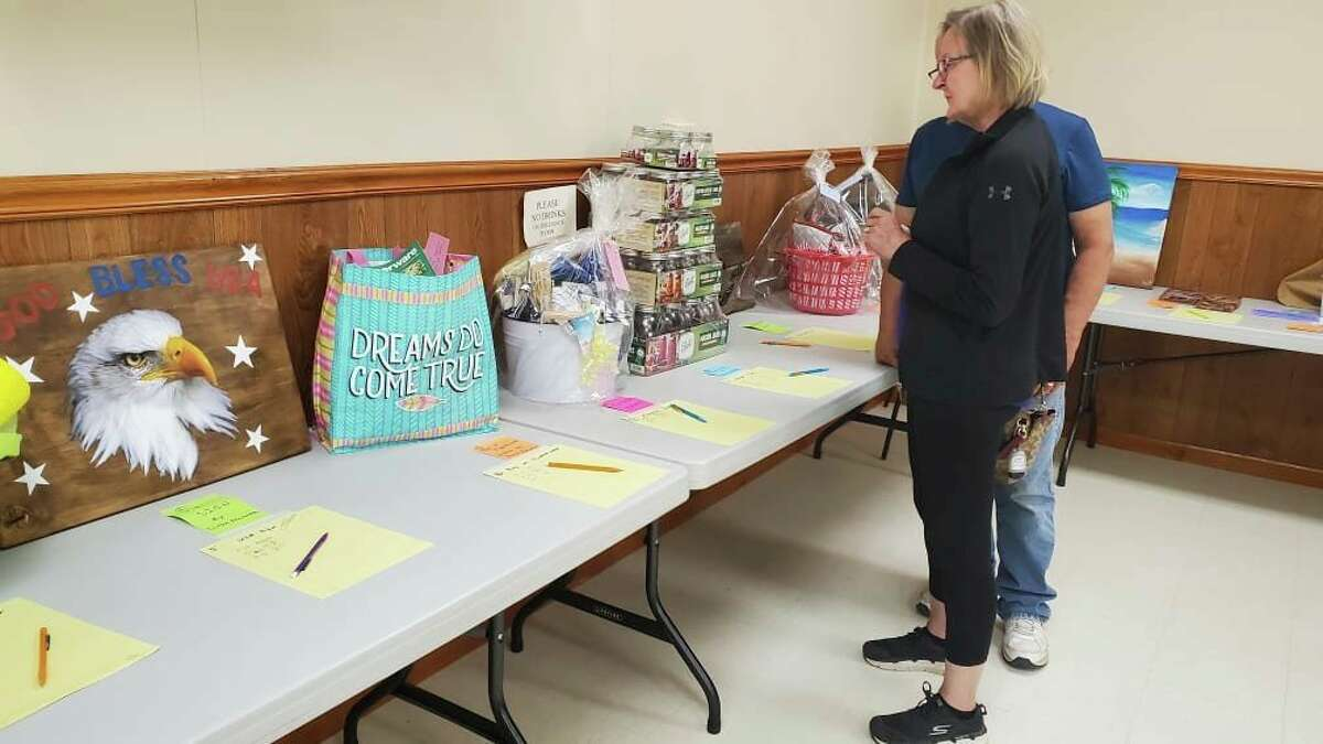 Over 90 items were up for auction at the U&I Club in Port Austin on Sunday. (Courtesy Photo)