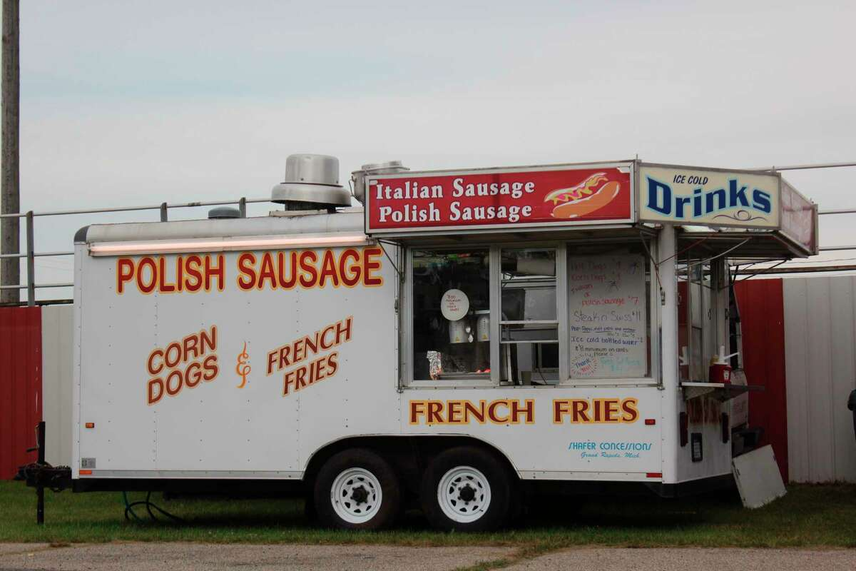 Aside from the sausages advertised on the front of the truck, some delicious Steak 'n Swiss sandwiches can be found within. (Pioneer photo/Joe Judd)