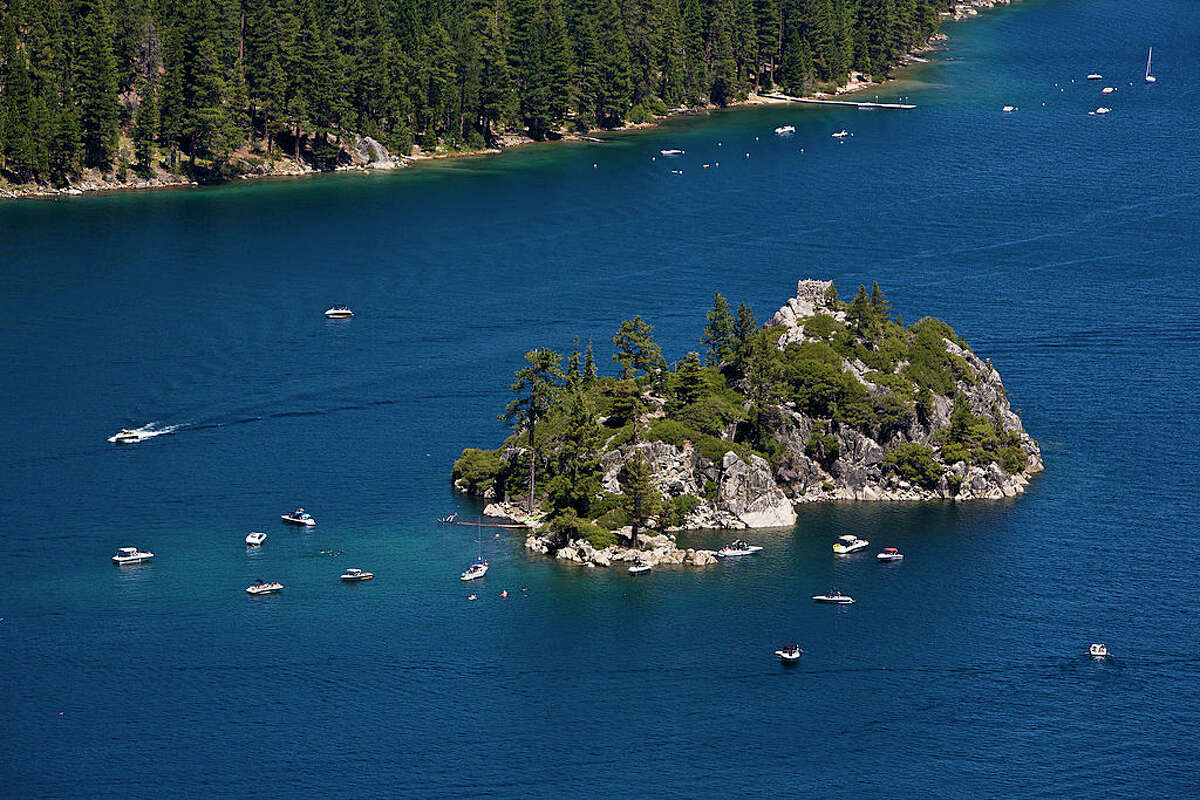 A view of Emerald Bay in Lake Tahoe.
