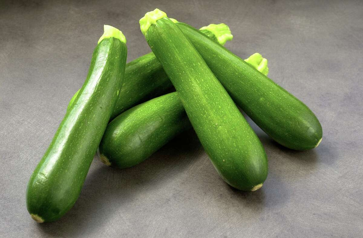For the best results, look for smaller and more slender zucchini with a deep green color and a bit of stem still attached.