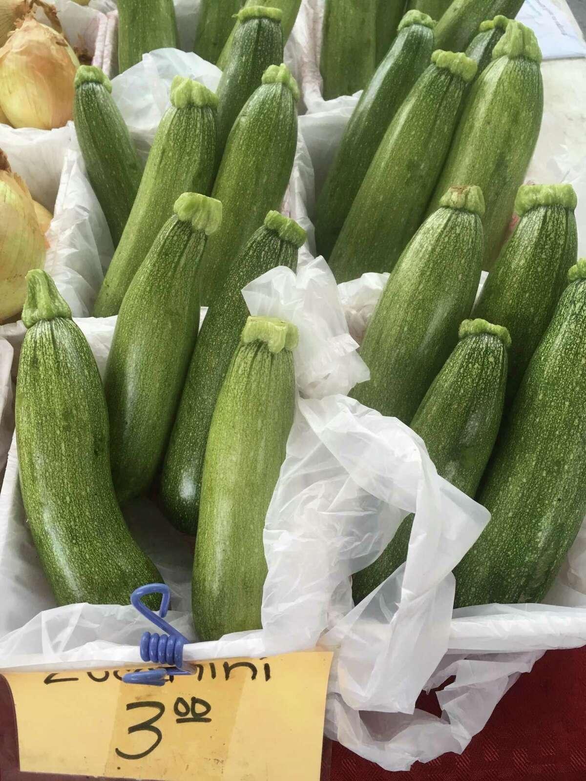 The zucchini crop is in full abundance at San Antonio area farmers markets.