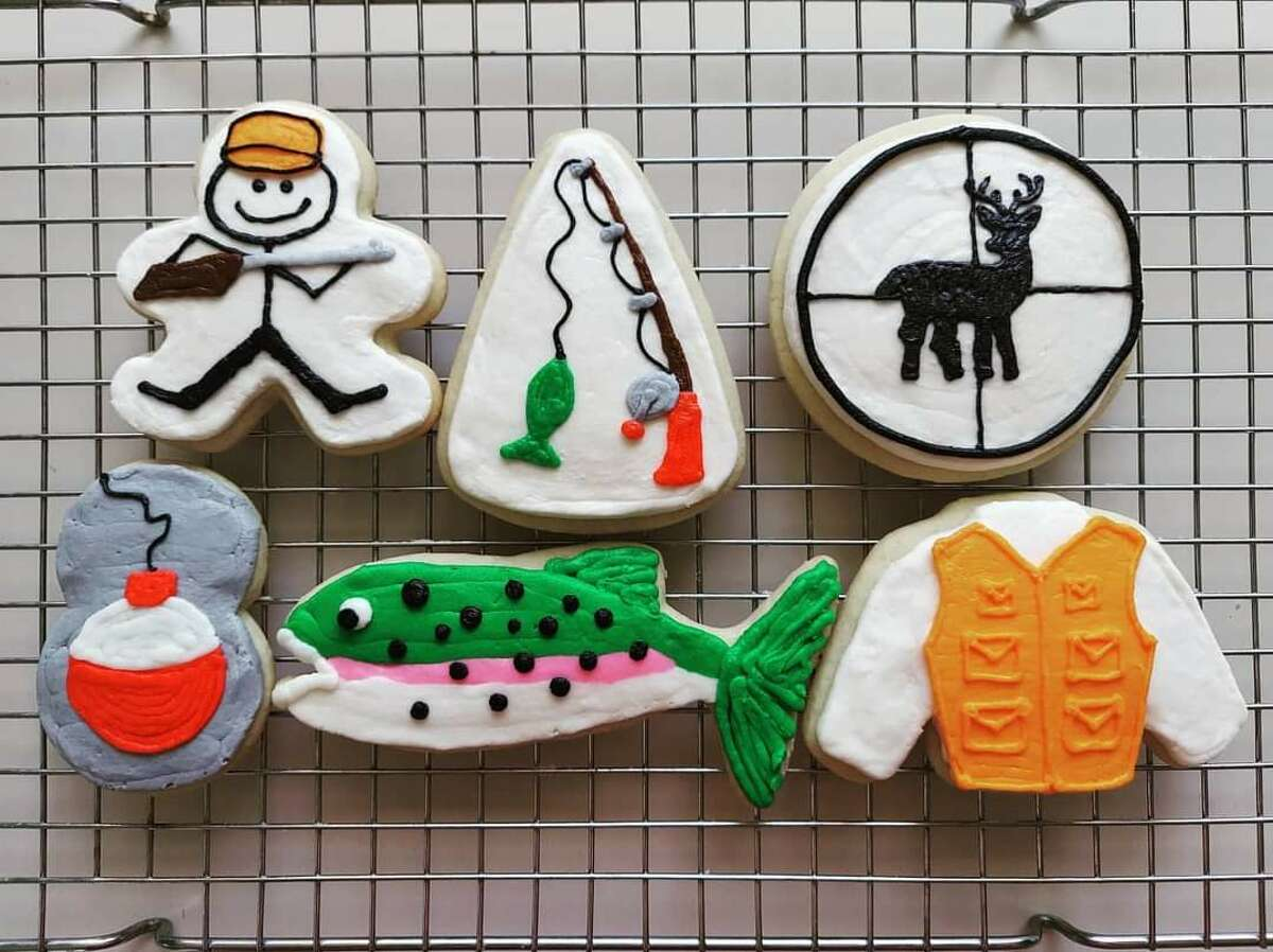 These cookies were for a birthday boy in April 2021 who loves hunting and fishing.   Baked by Kari Santos.
