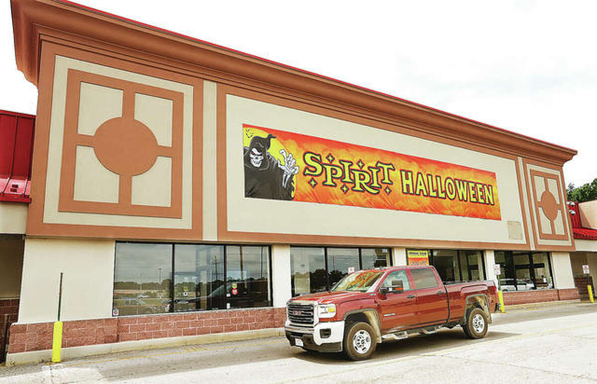 A truck passes by the front of the Spirit Halloween store planned at 1721 Homer Adams Parkway in Alton. Claiming to be the largest seasonal Halloween retailer in the world, Spirit Halloween is currently hiring for the Alton store. Candidates can apply online at Work4Spirit.com.