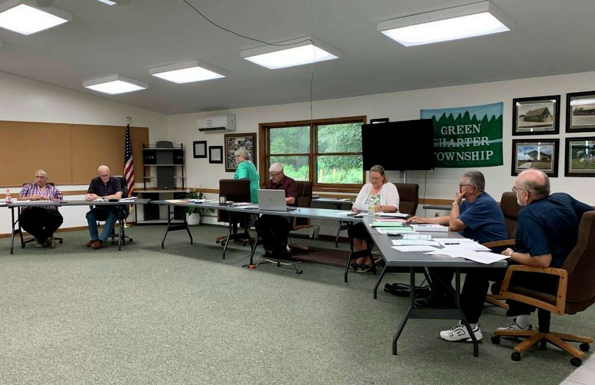 The Green Township board of trustees agreed to investigate the possibility of installing additional internet towers using funds from the American Rescue Plan during its meeting this week. (Pioneer photo/Cathie Crew)