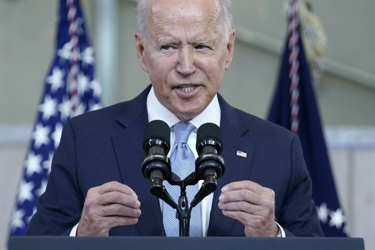 President Joe Biden delivers a speech on voting rights at the National Constitution Center in Philadelphia.