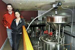 File photo. Rick Cipriani and Wendy Wulkanare seen here in 2014 as co-owners of the former Bull and Barrel Brewery and Restaurant in Brewster, N.Y., which closed in December. Cipriani is opening a newly approved location in Danbury, Quirk Works Brewery and Blendery.