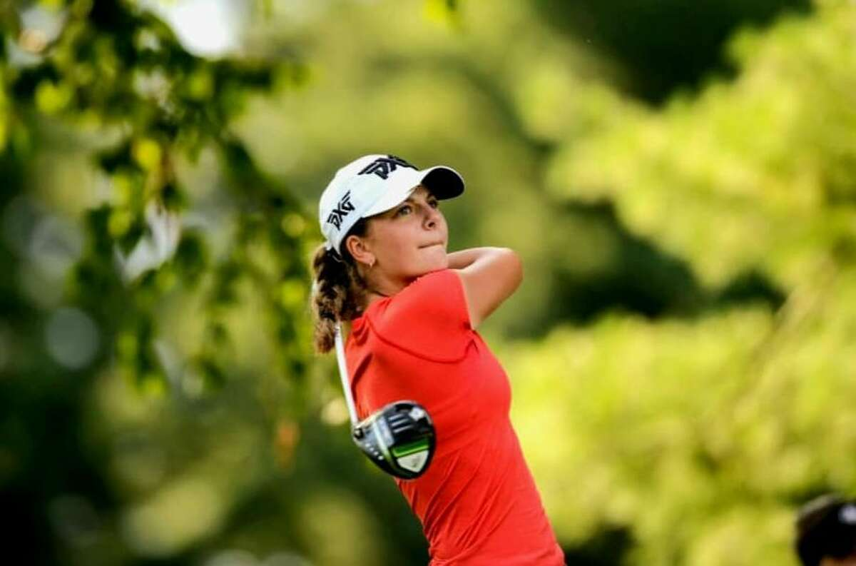 Kennedy Swedick lost her second-round match Thursday, July 15, 2021, in the U.S. Girls' Junior golf championship at Chevy Chase, Md. (Kathryn Riley/USGA)