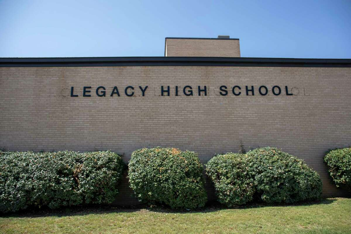 New Legacy High School signage as seen Thursday, July 15, 2021 at 3500 Neely Ave. Jacy Lewis/Reporter-Telegram