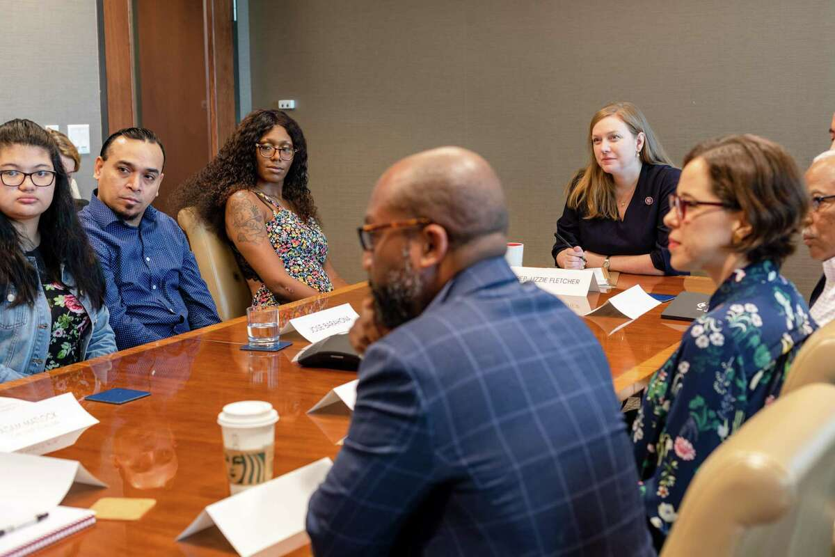 Congresswoman Lizzie Fletcher (D-TX-07) held a roundtable about the increased child tax credit on the morning of July 15