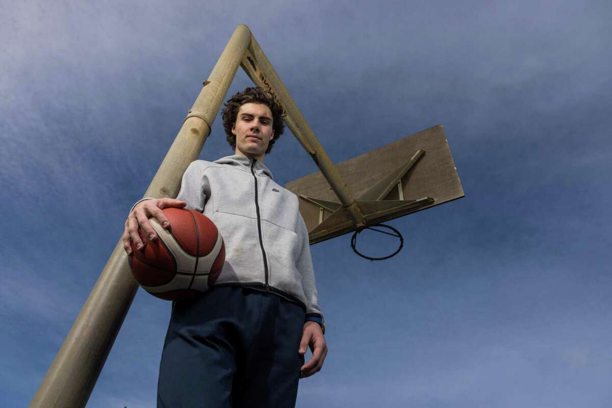 Josh Giddey poses during a portrait session in Brighton on May 23, 2021 in Adelaide, Australia.