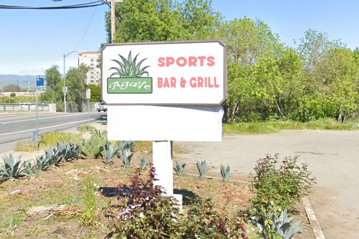 The sign outside Agave Sports Bar & Grill at 544 West Alma Ave. in San Jose.