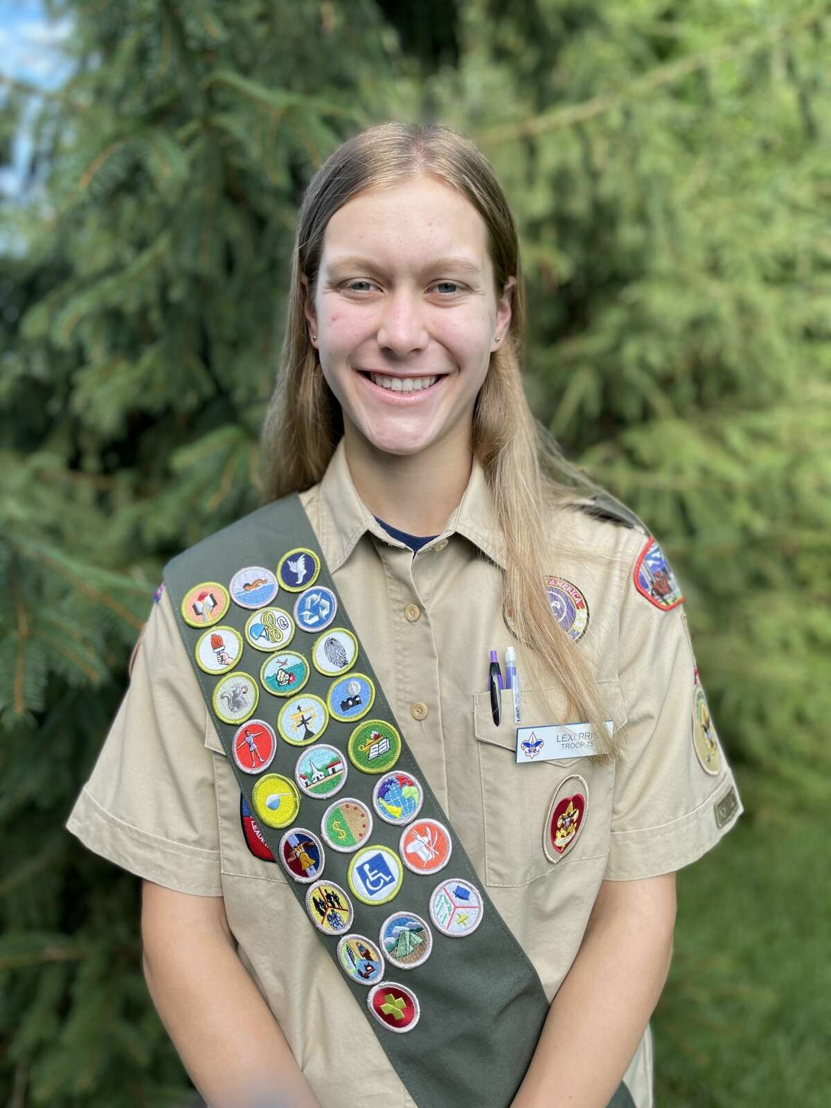 Guilderland High School rising junior Lexi Pris is Albany County's first female Eagle Scout. She joined Troop 75G in Delmar after Scouts BSA opened its ranks to females in February2019.