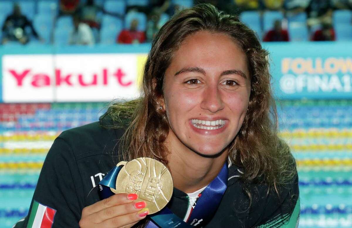 Italy's Simona is a world champion who thinks she might have what it takes to beat Katie Ledecky.