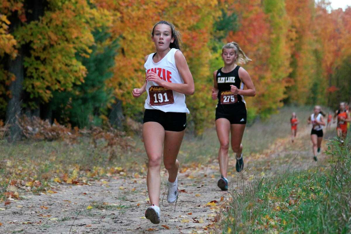 Cierra Guay races for the Huskies on the cross country course. (Record Patriot file photo)
