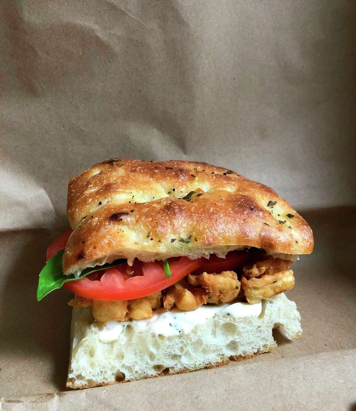 Panelle, basically a chickpea fritter, is a summer-perfect sandwich filling.