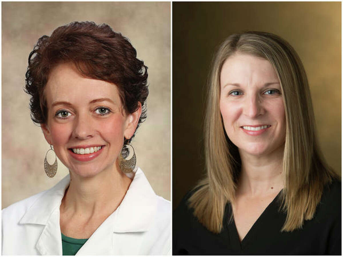 SIUE's Melissa Bogle, left, and Jayme Swanke, lead a cross-disciplinary effort by the Behavioral Health Workforce Education and Training Program which has received a $1.8 million grant.