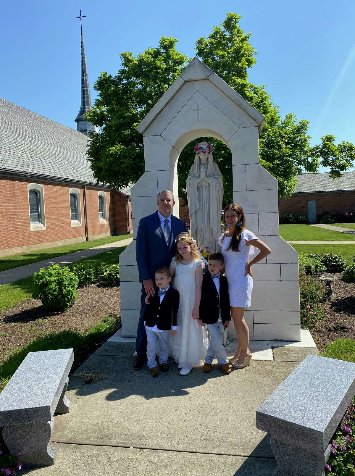 Second-graders at St. Mary School made their First Holy Communion June 5 at St. Mary Church.