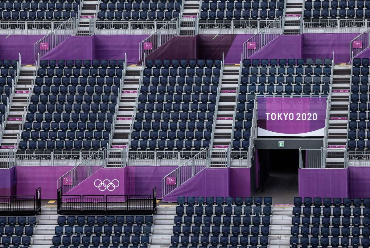 A spectator stand overlooks the arena at Tokyo Olympics Equestrian Park on July 14, 2021 in Tokyo, Japan. As with all other Tokyo Olympic venues, events at the 9,300-capacity Equestrian Park will go ahead without spectators in an attempt to avoid the spread of coronavirus.