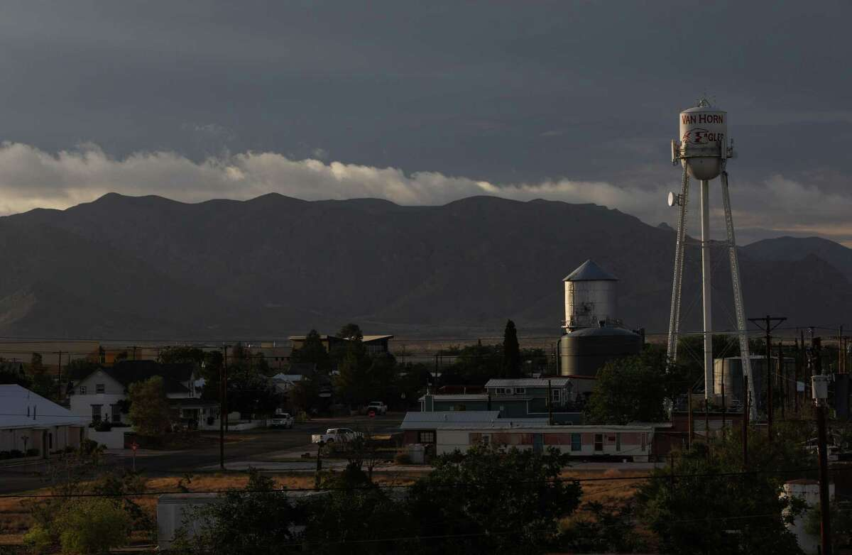 The sun sets Tuesday, June 29, 2021, in Van Horn.