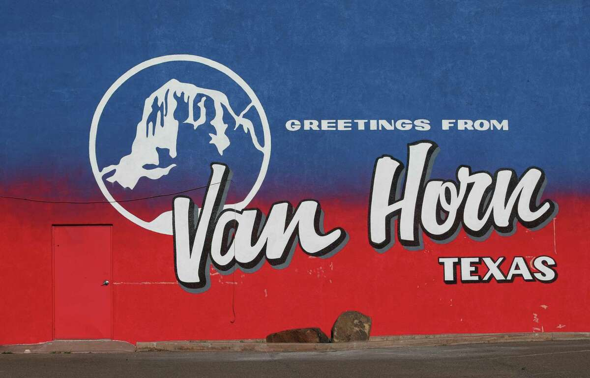 A mural greets visitors along West Broadway Street on Thursday, July 1, 2021, in Van Horn.