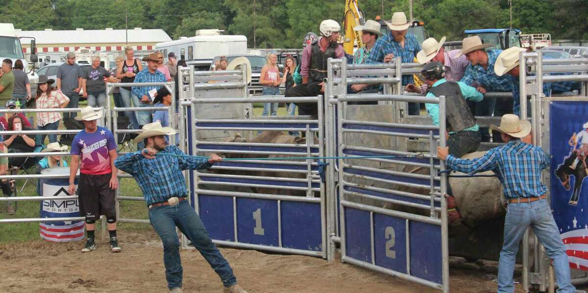 Nowicki said nothing comes close to the adrenaline rush he gets from riding bulls. (Pioneer photo/Joe Judd)