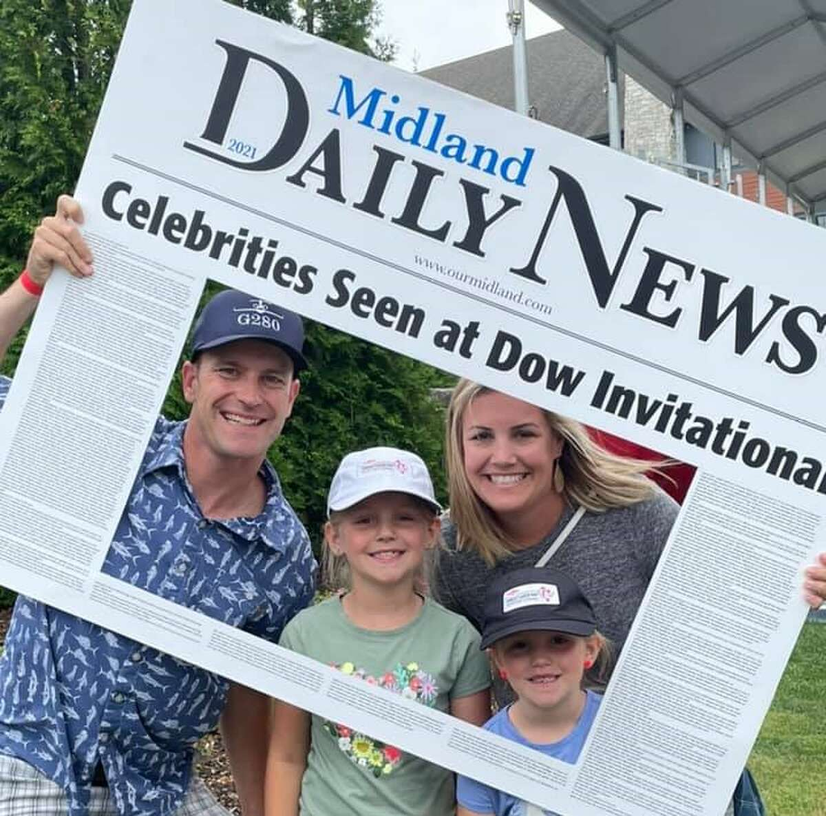 Attendees pose during a break from the LPGA action atthe 2021 Great Lakes Bay Invitational at the Midland Country Club.