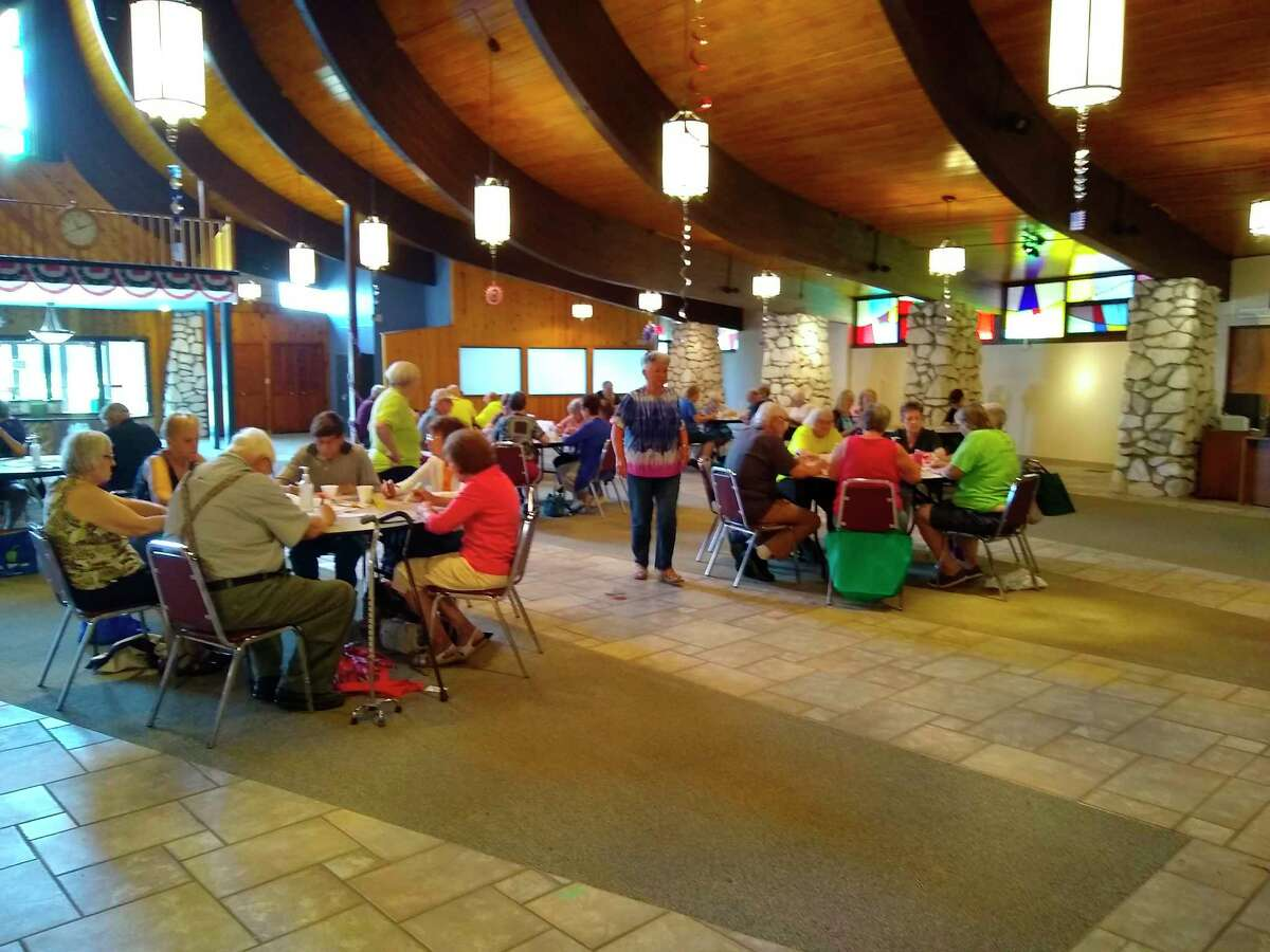 The Manistee County Council on Aging has started produce bingo once again. It will be held on the first Wednesday of each month, at 11 a.m.This week there were bushels of fresh produce that were used as prizes for the approximately 80 seniors who attended. (Courtesy Photo)