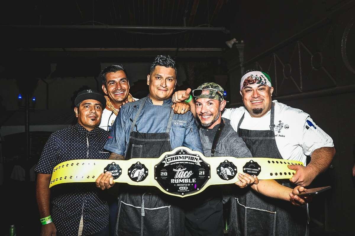 San Antonio's La Fonda de Jaime 2.0 chefs win for best taco at the Taco Rumble Thursday night.