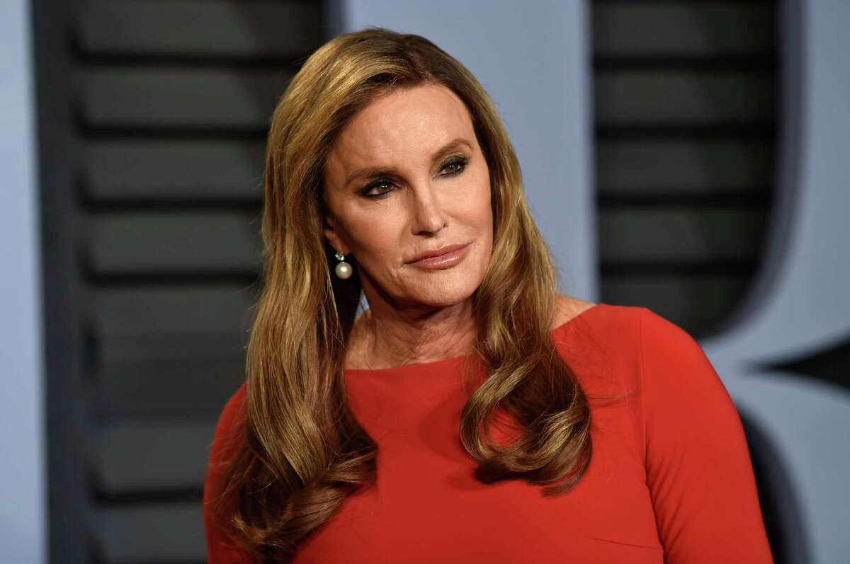 Caitlyn Jenner arrives at the Vanity Fair Oscar Party on Sunday, March 4, 2018, in Beverly Hills, Calif.