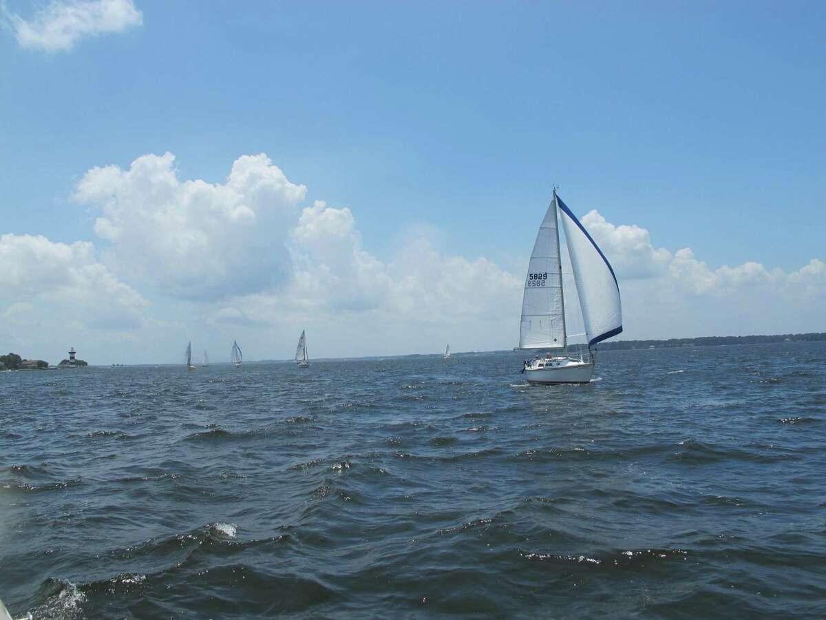 "The Lake Conroe Sailing Association held its ""Summer Parade of Sailboats"" event on July 10."