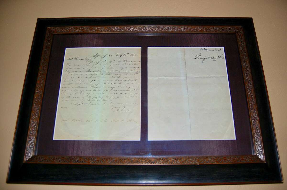 Lincoln letter:This letter from Abraham Lincoln, written before he became the 16th President of the United States, is addressed to Simeon Ryder. Ryder helped develop the Alton Railroad and had many business ventures. There are several Lincoln-related items in the archives, including different artifacts that are said to have belonged to former first lady, Mary Todd Lincoln.