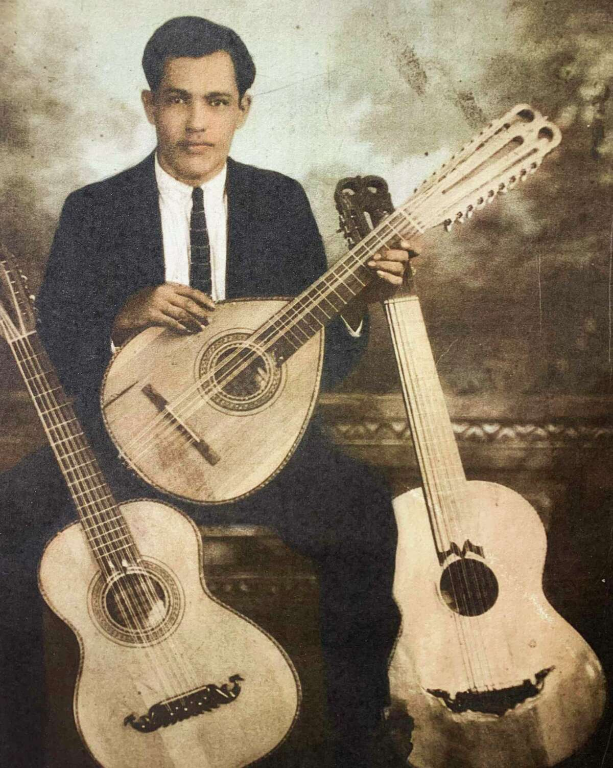 This is a picture of Martin Macias, the grandfather of bajo sexto maker George Macias.