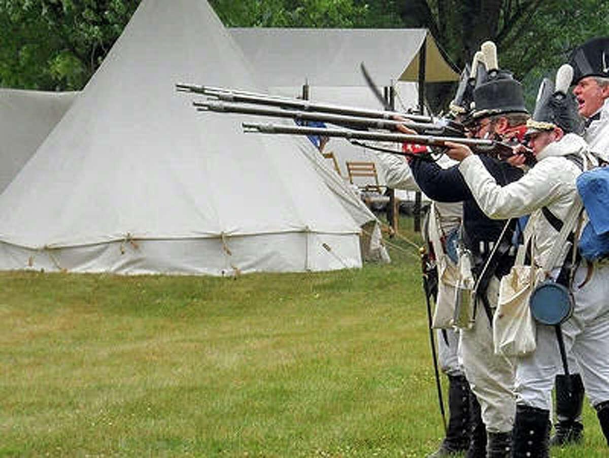 A reenactment of the War of 1812