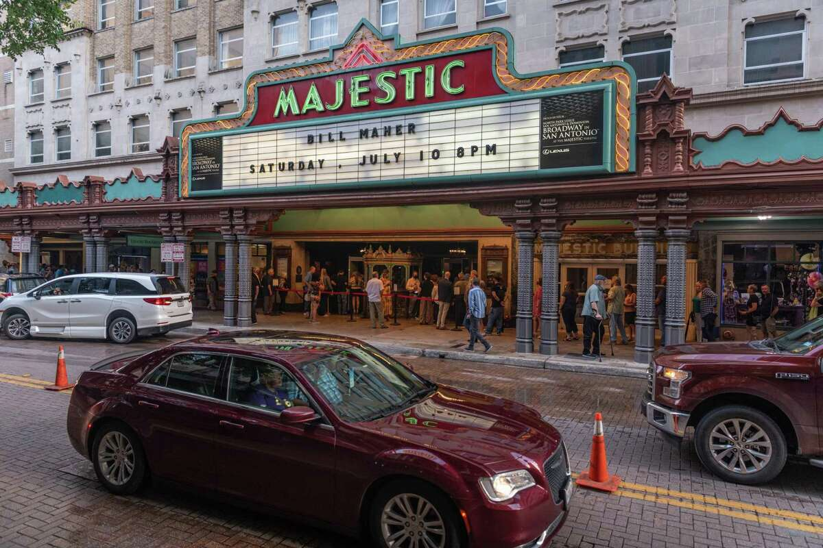 The Majestic Theatre's first in-person performance since the beginning of the pandemic was a Bill Maher show on July 10.