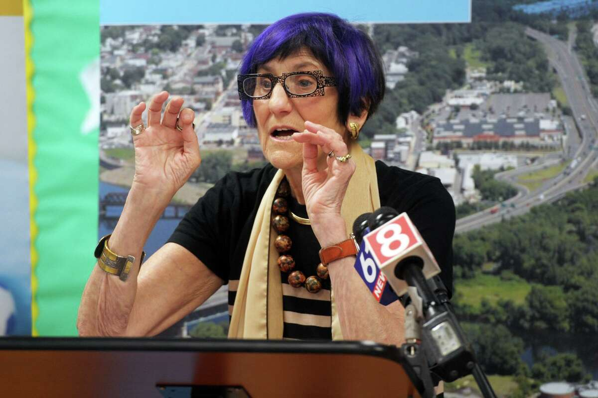 U.S. Rep. Rosa DeLauro speaks at a news conference in Milford last month.