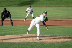 Mason Erla will likely be throwing pitches in the Los Angeles Angels' minor league system next year. (MSU Athletics/Courtesy Photo)