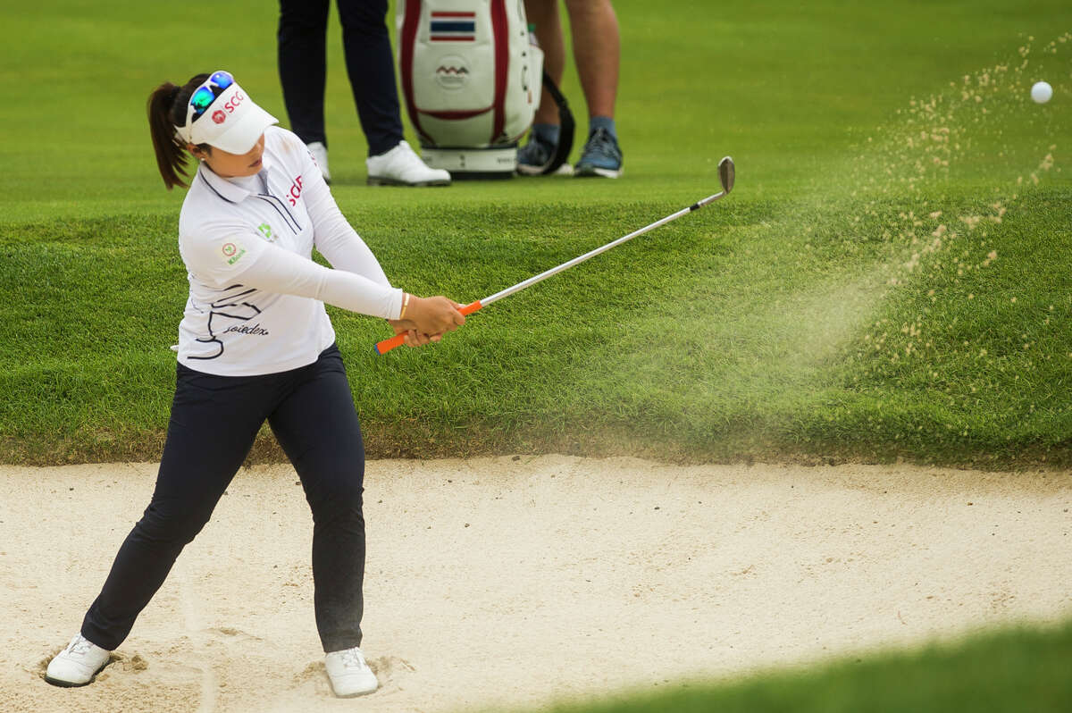 LPGA player Moriya Jutanugarn competes in the third round of play during the Dow Great Lakes Bay Invitational Friday, July 16, 2021 at the Midland Country Club. (Katy Kildee/kkildee@mdn.net)