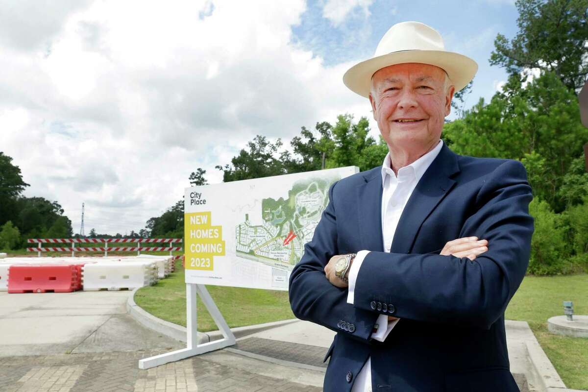 Alex Sutton, with DMB Developments and general manager of CityPlace Residential Ventures at a planned residential construction site at Mossy Oaks Road and Springwood Village Parkway, just north of Highway 99 Thursday, Jul. 15, 2021 in Spring, TX.