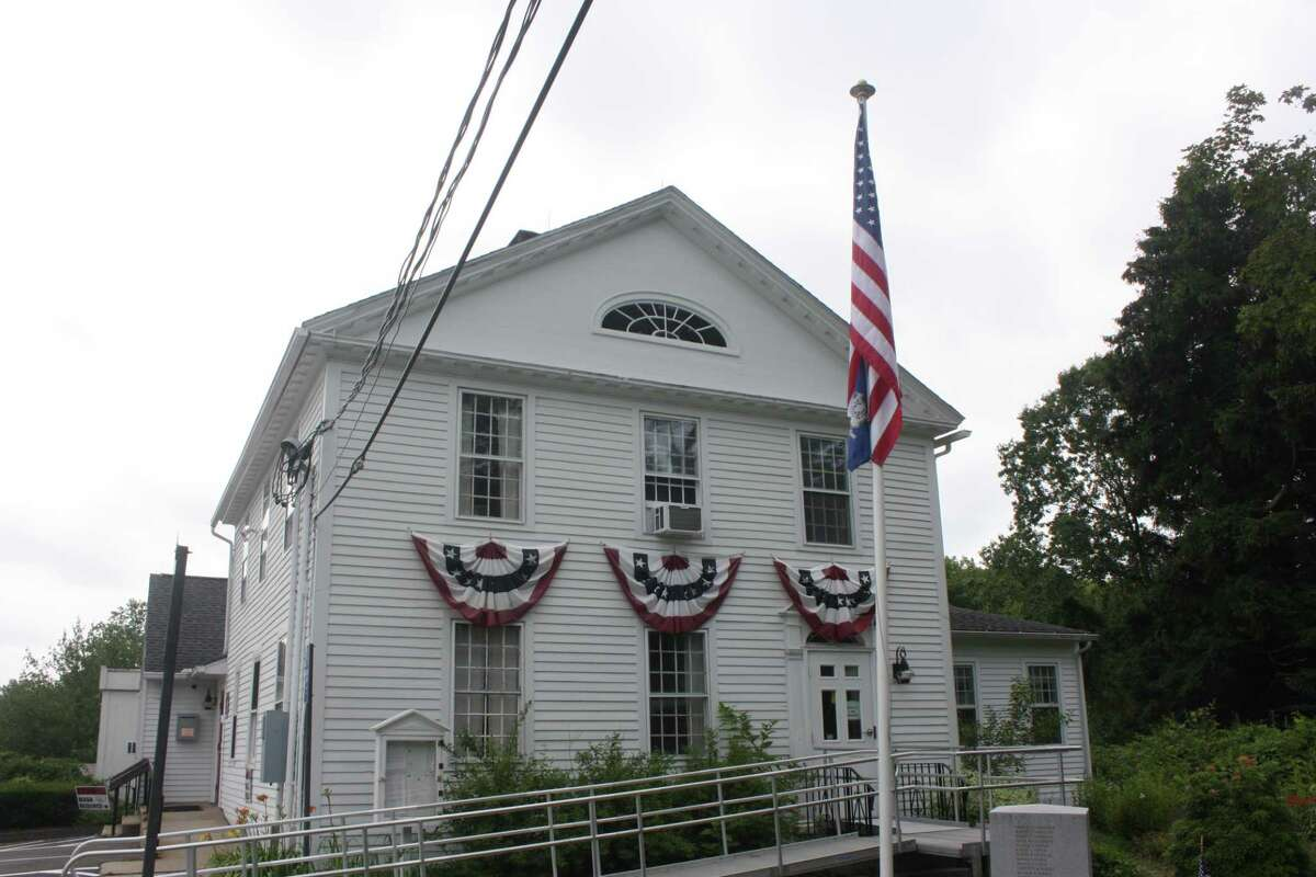 Killingworth Town Hall is one of the first locations where PFAS contamination was discovered. Regulators have detected levels of chemicals exceeding state standards at 14 wells in town.