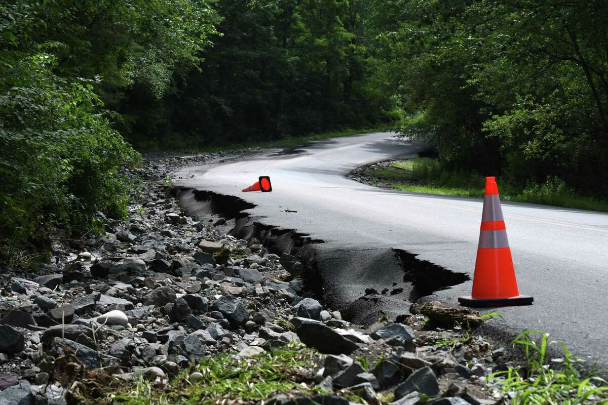 Letter writer says, 'The article 'County roads crumble after heavy rains,' July 16, highlights the urgent need to invest in infrastructure that can withstand assaults from the increasingly severe weather events brought about by the climate crisis.' (Will Waldron/Times Union)