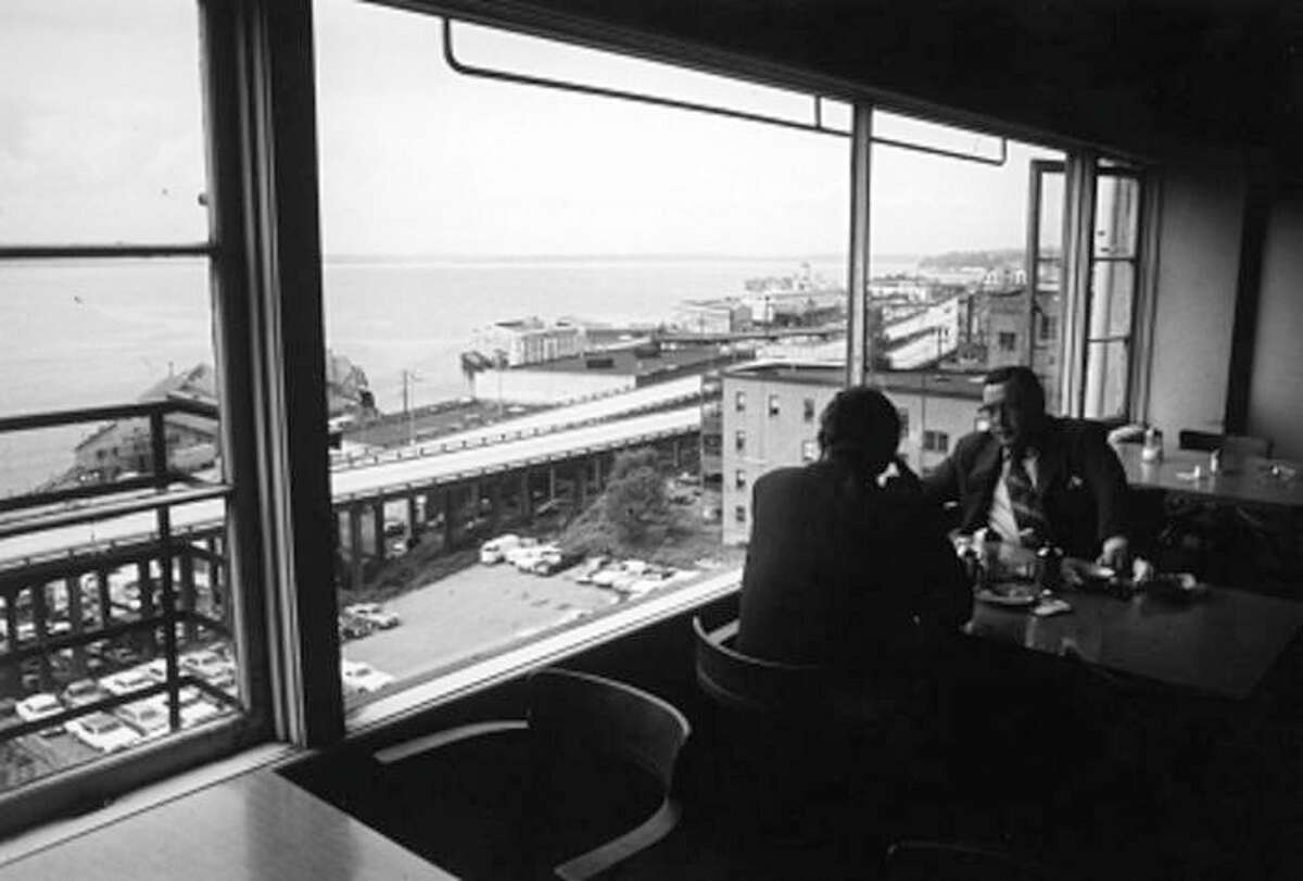 Pictured in 1972, Lowell's Restaurant in Pike Place Market still boasts excellent views of Elliott Bay.