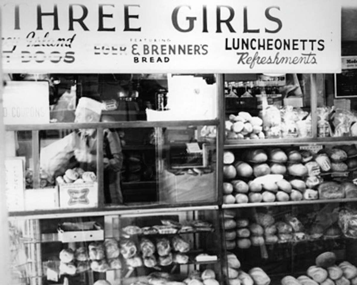 Pike Place Market's Three Girls Bakery pictured in 1973.