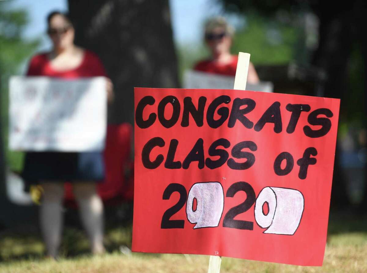 The Central High School graduation ceremony at the school in Bridgeport, Conn. on Tuesday, June 23, 2020.