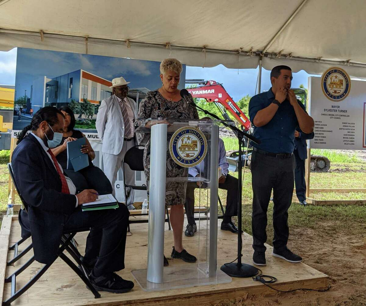 """""""This center will enrich the lives of the residents of this community, both physically and mentally,"""" said Carolyn Evans-Shabazz, who represents District D on the Houston City Council. """"I know this investment will prove crucial to making Sunnyside and its residents more resilient and I am so very honored to be a part of it."""""""