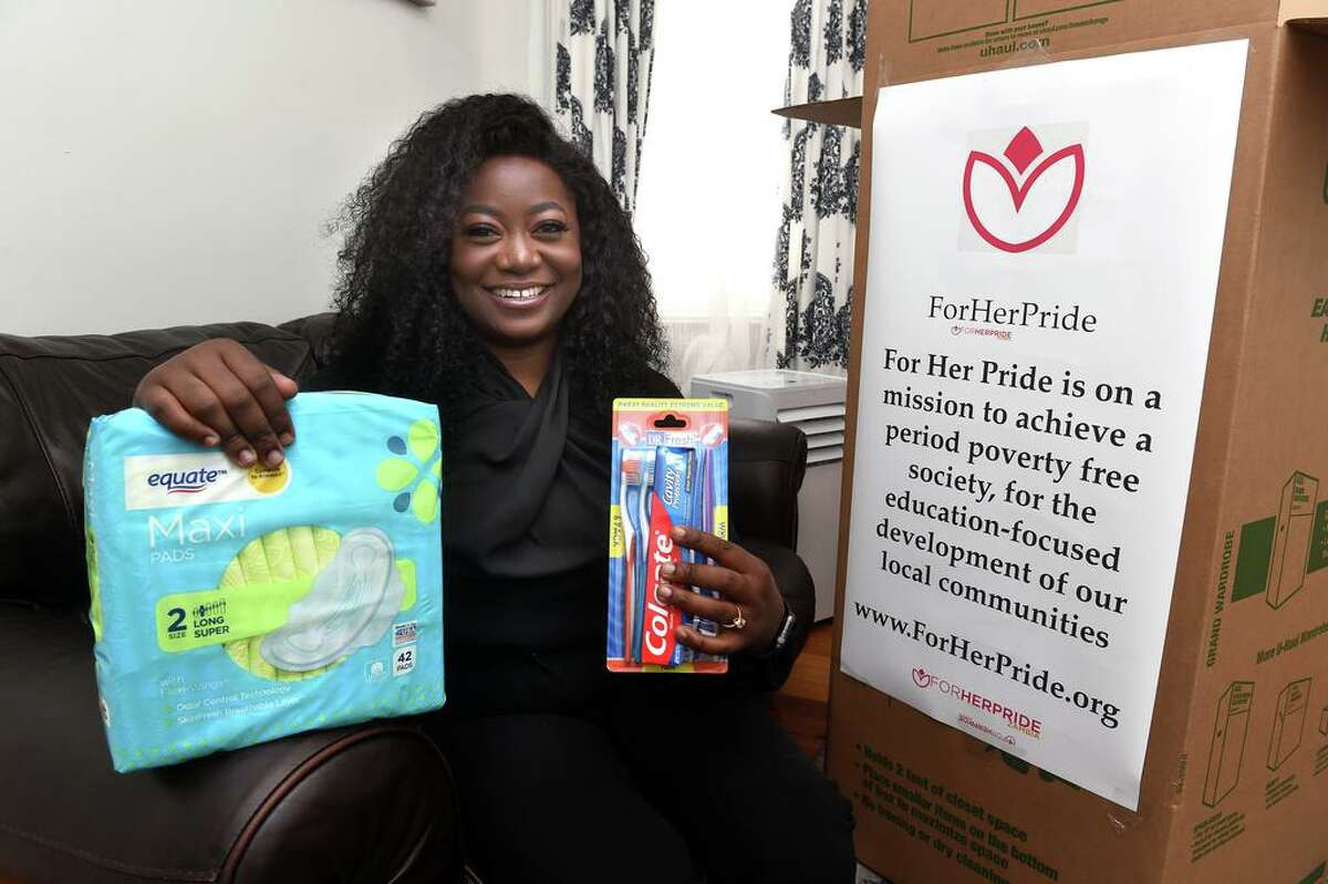 Rose Mutale runs ForHer- Pride, which sends sanitary napkins and toiletries to poor women in Zambia.